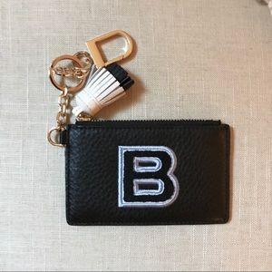 """BNWOT Tory Burch monogram """"B"""" card case key fob"""